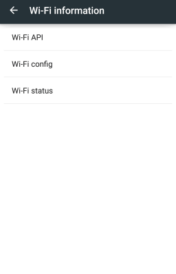 Test Wifi Menu